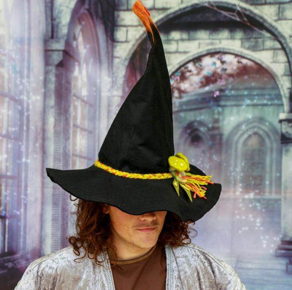 felt wizard, felt witch hat, unisex wiccan hat