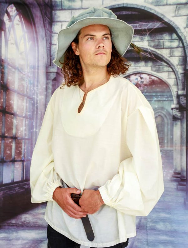 mens medieval shirt, mens pirate shirt, full sleeved shirt